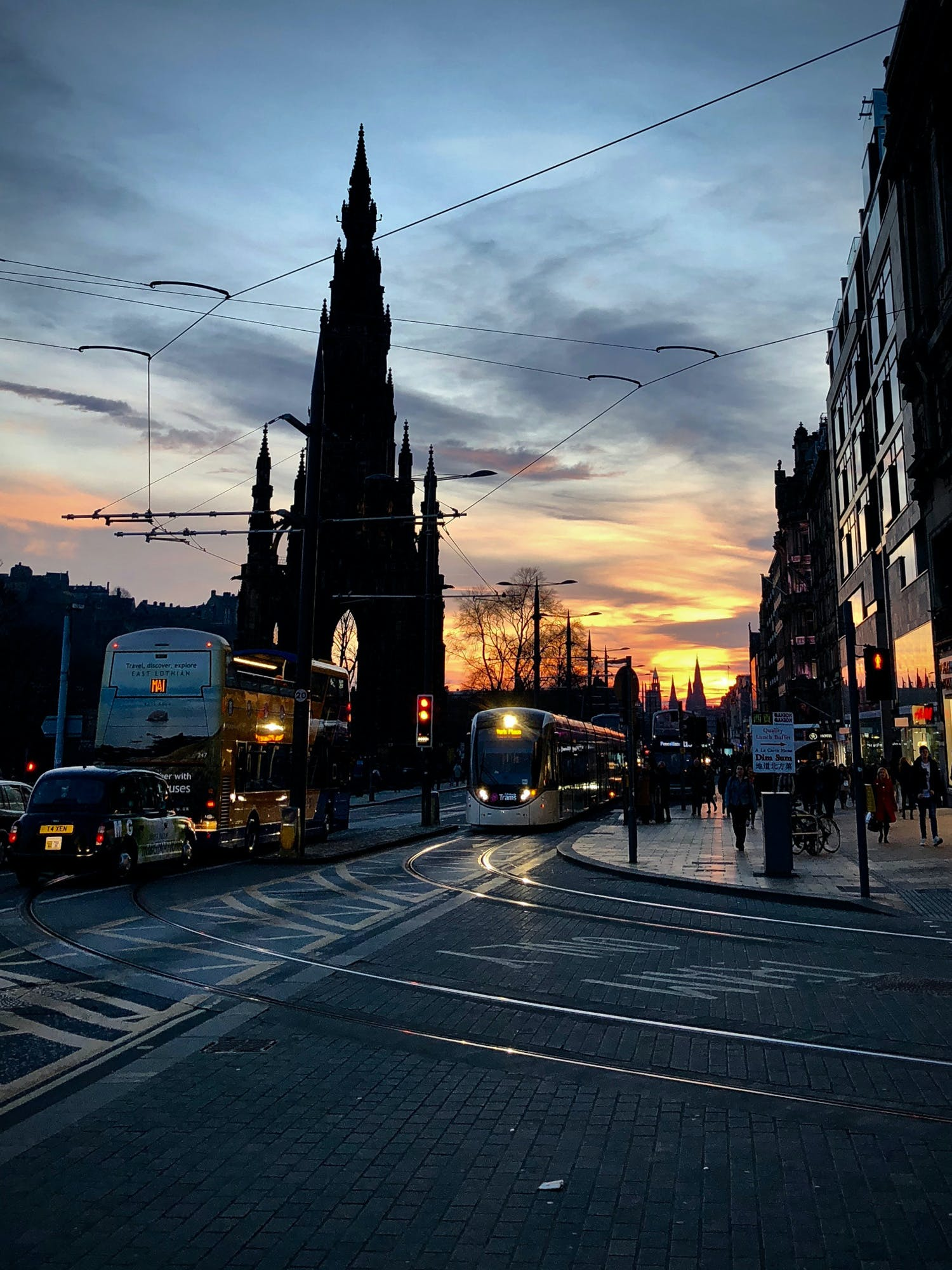 Around the corner is Princes Street